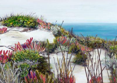 ©Julie Schofield, Island Coastal Colours, Acrylic on Canvas, 122 x 61cm
