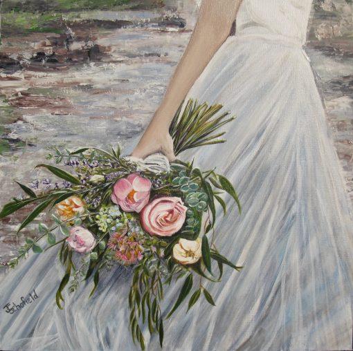 ©Julie Schofield, Messy Bouquet, Acrylic, 61x61cm .jpg