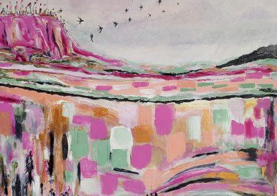 ©Julie Schofield, Leap of Faith, Acrylic on Canvas, 76 x 76cm